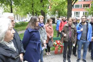 Gededenken an die Opfer des Nationalsozialismus am Platz der Freiheit/Widerstandsdenkmal